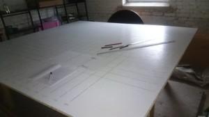 Aufgemaltes Grid – fertig für die Frames