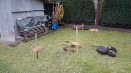 Baustart: Fläche markieren